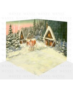 Photography Background in Fabric Christmas Set 3D / WTZ123