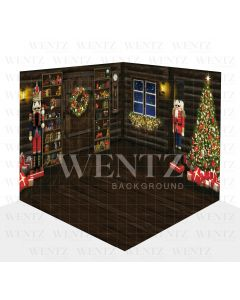 Photography Background in Fabric Christmas Scenario 3D Nutcracker / WTZ107