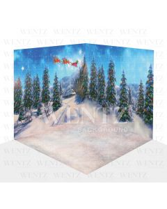 Photography Background in Fabric Christmas Scenario 3D / WTZ106
