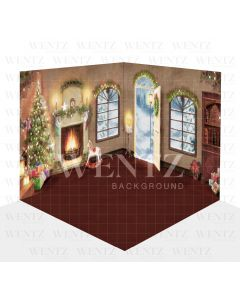 Photography Background in Fabric Christmas Scenario 3D / WTZ109