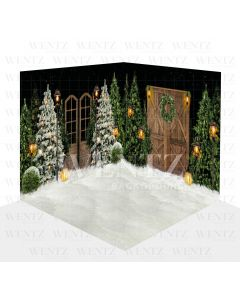 Photography Background in Fabric Christmas Scenario 3D / WTZ111