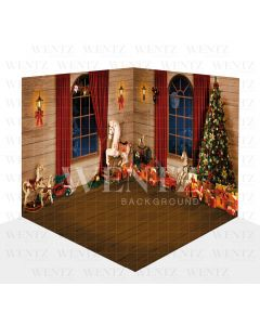 Photography Background in Fabric Christmas Scenario 3D / WTZ112