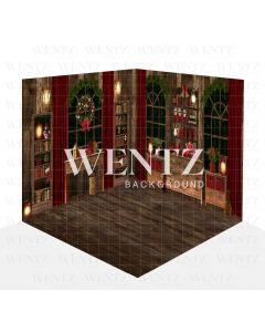 Photography Background in Fabric Christmas Kitchen Dining Room Set 3D / WTZ125