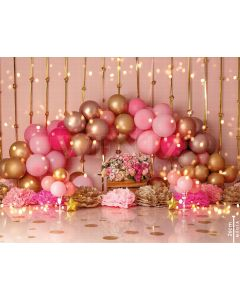 Photography Background in Fabric Scenarios Rose Gold Balloon Newborn / Backdrop 1976