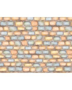 Photography Background in Fabric Colorful Bricks Newborn / Backdrop 1979