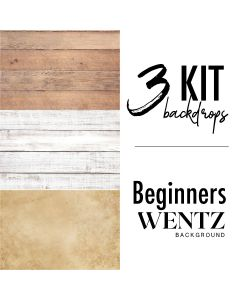 Kit Beginners with 3 Backgrounds Wentz | Kit Iniciante-3