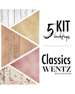 Kit Classics with 5 Backgrounds Wentz | Kit Classicos-5