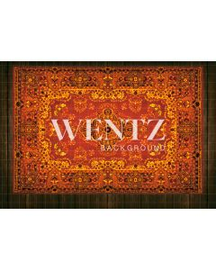 Photography Background in Fabric Wood Floor With Red Carpet / Backdrop 2340